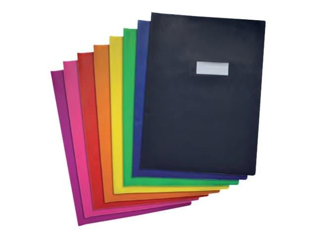 Oxford - Protège cahier sans rabat - 24 x 32 cm - grain agneau - rose