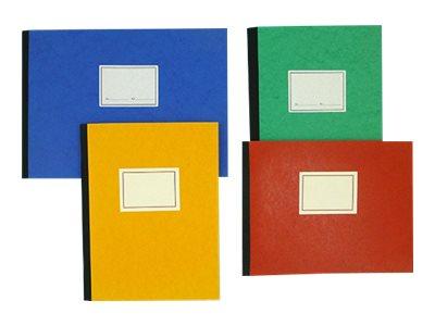 ELVE - Piqûre comptable - 6 colonnes par page - 32 x 25 cm - 80 pages