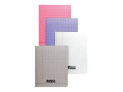 Calligraphe 8000 - Cahier polypro - 17 x 22 cm - 140 pages - grands carreaux (Seyes) - disponible dans différentes couleurs