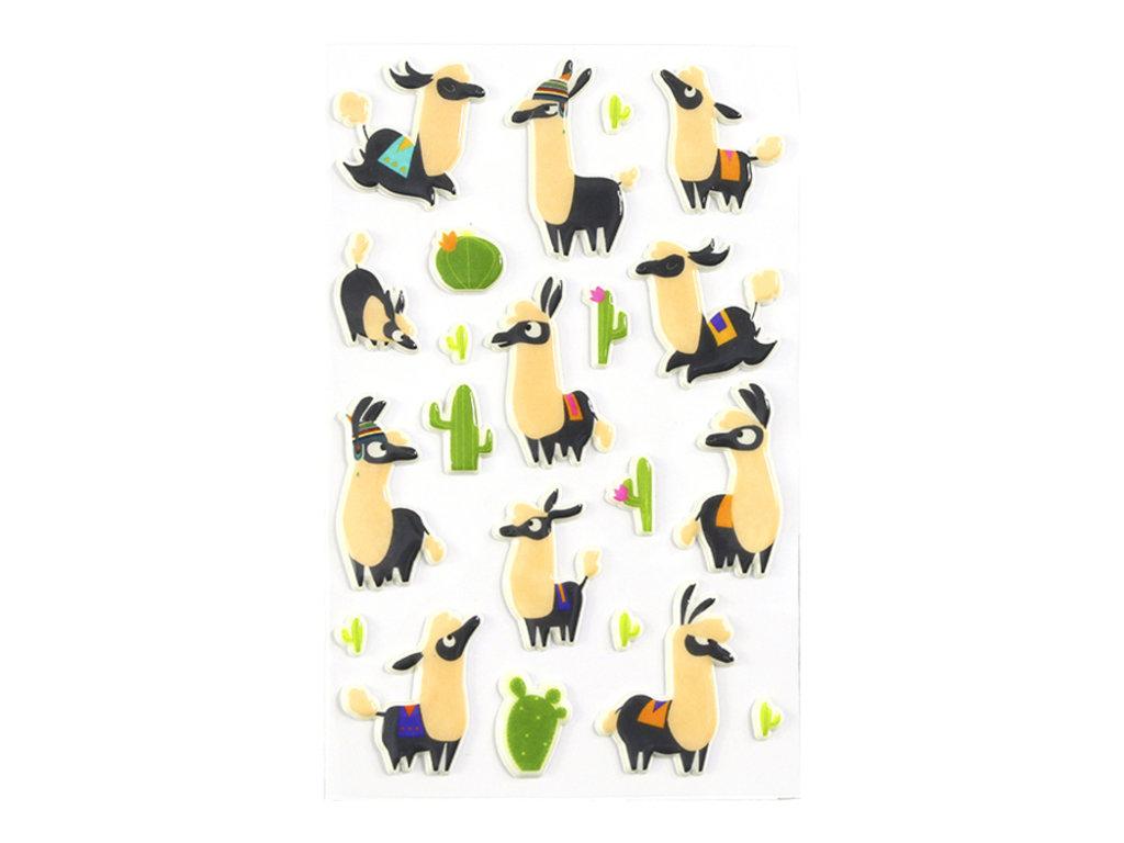 Maildor - 1 feuille gommettes lamas